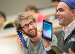 Medical Students hold iPads