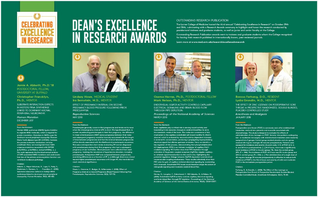 2018 Research Excellence Poster