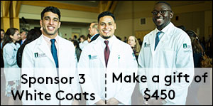 Sponsor three white coats
