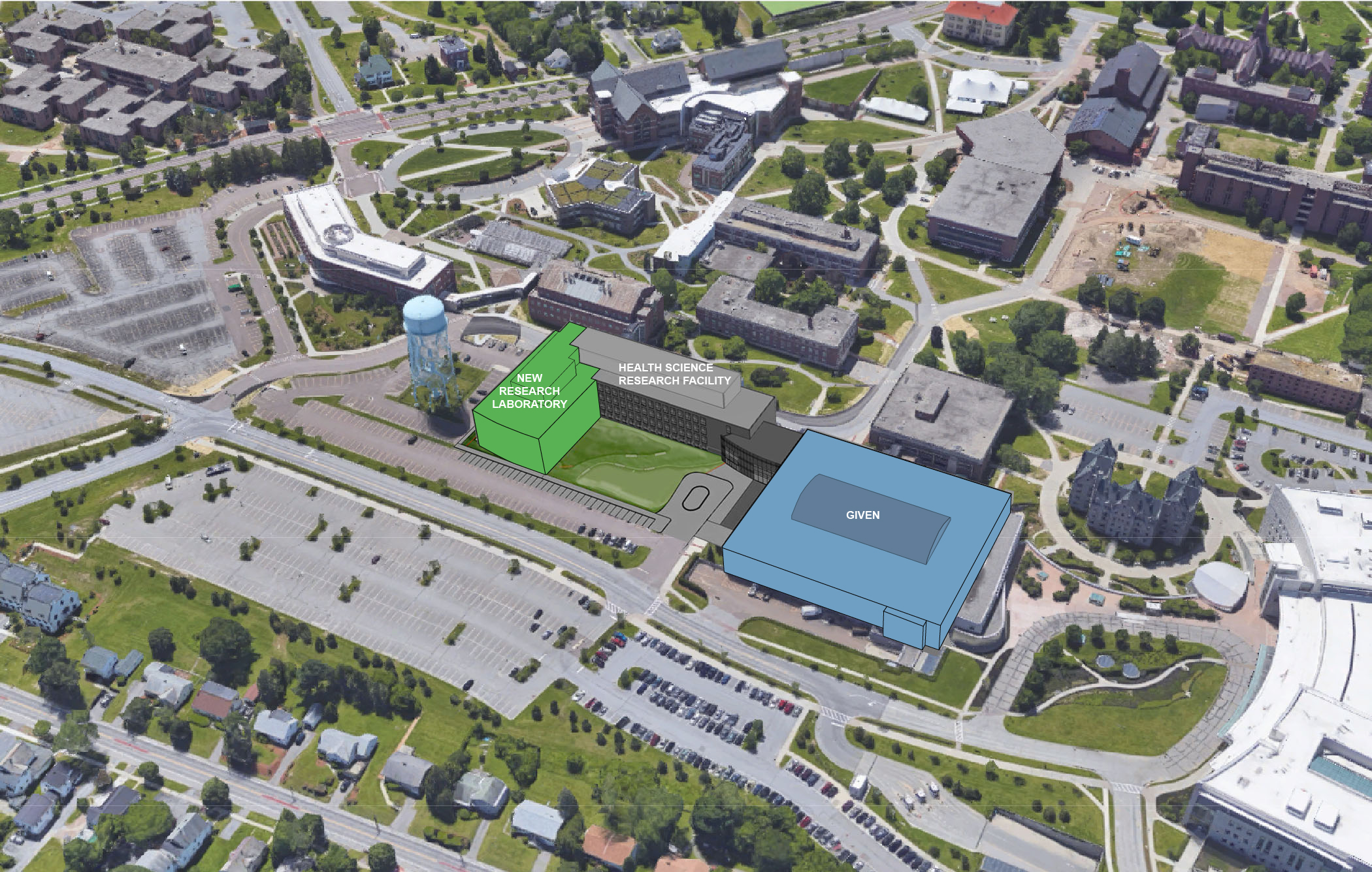 Aerial Rendering of Proposed Research Complex