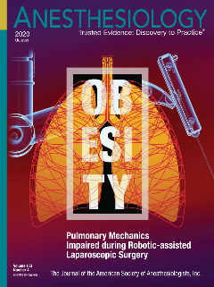 Anesthesiology October 2020 Magazine Cover