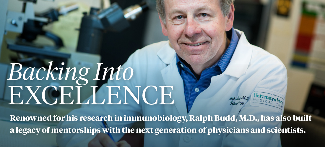 Backing in Excellence. Ralph Budd, M.D.