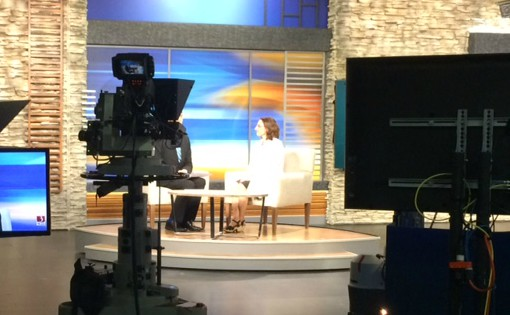 Dr. Carrie Lyon in WCAX Studio