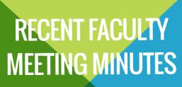 Faculty Meeting Minutes