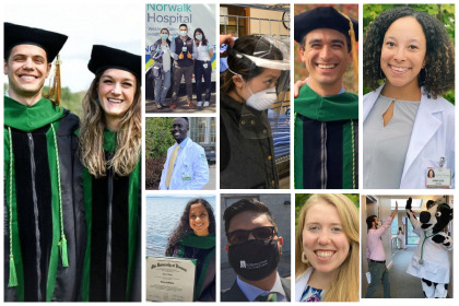 Collage of UVM Larner Med medical students