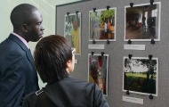 Students attend the Photography Showcase