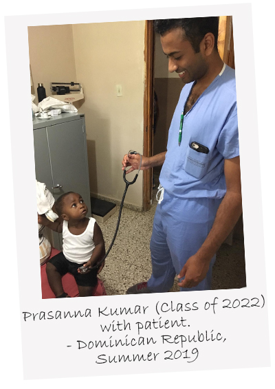 Prasanna Kumar from Class of 2022 with patient