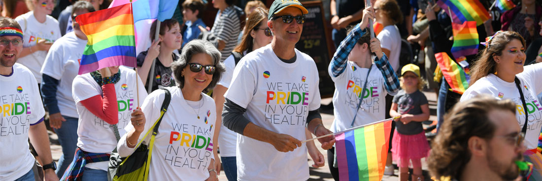 Larner College of Medicine and UVM Health Network march in the Pride Vermont Parade