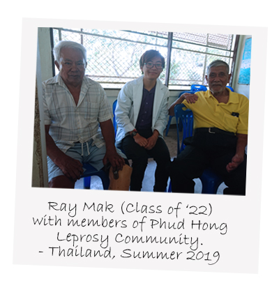 Class of 2022's Ray Mak a Phud Hong Leprosy Community Thailand