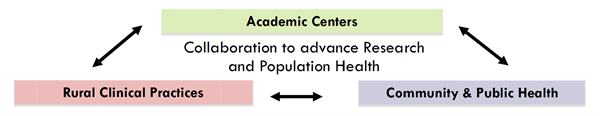 rural health core connects academic centers, community and public health organizations, and rural clinical practices