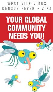 Cute Mosquitos Ask You to Help the Global Community -Volunteer!