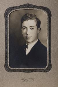 Young Robert Larner in frame