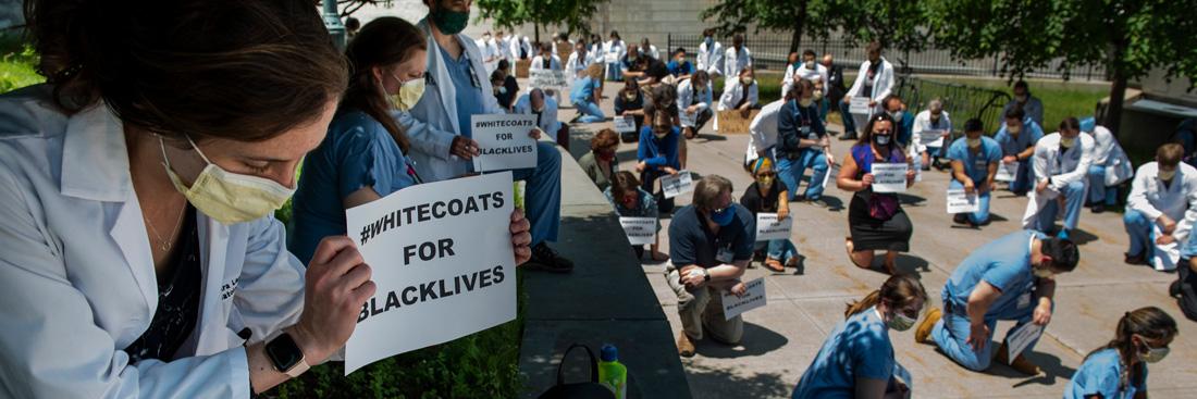 White Coats for Black Lives Banner