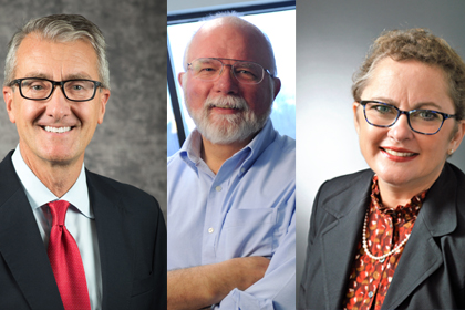 Dean Page, Dr. Tracy, Dr. Cushman