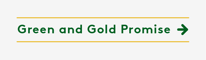 Green and Gold Promise Button
