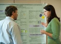 Graduate students and poster